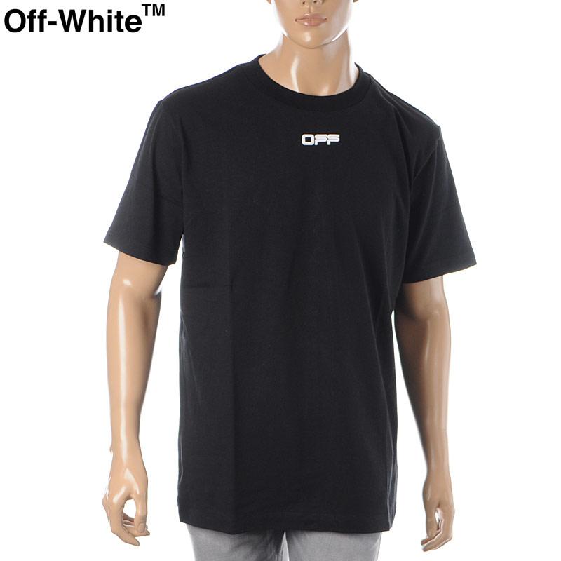 オフホワイト OFF WHITE クルーネックTシャツ 半袖 メンズ AIRPORT TAPE S/S SLIM TEE OMAA027S20185003 ブラック 2020春夏新作