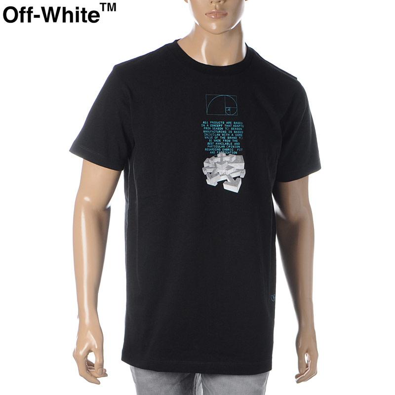 オフホワイト OFF WHITE クルーネックTシャツ 半袖 メンズ DRIPPING ARROWS S/S SLIM TEE OMAA027R20185005 ブラック 2020春夏新作