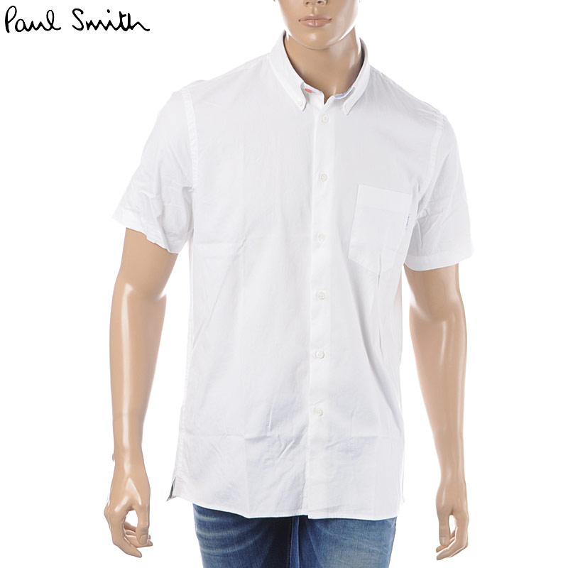 ポールスミス PAUL SMITH ボタンダウンシャツ メンズ M2R 417R B20041 ホワイト