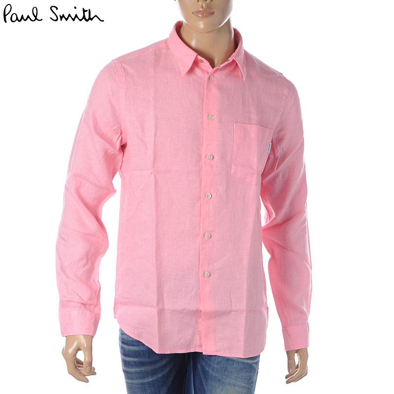 ポールスミス PAUL SMITH カジュアルシャツ 長袖 メンズ M2R 614P B20289 ピンク 2020春夏新作
