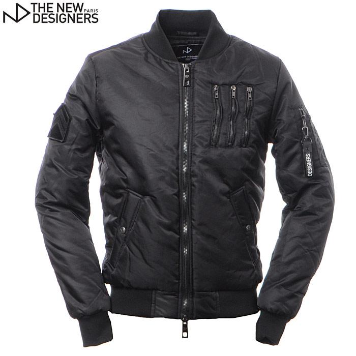 ザ ニューデザイナーズ THE NEW DESIGNERS MA-1ボンバージャケット メンズ アウター W17625 ND SPENT ブラック