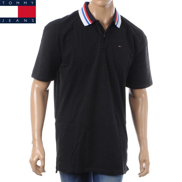 トミージーンズ TOMMY JEANS ポロシャツ 半袖 メンズ DM0DM04105 ブラック 2018春夏セール