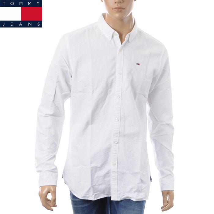 トミージーンズ TOMMY JEANS ボタンダウンシャツ 長袖 メンズ DM0DM01590 ホワイト 2018春夏セール