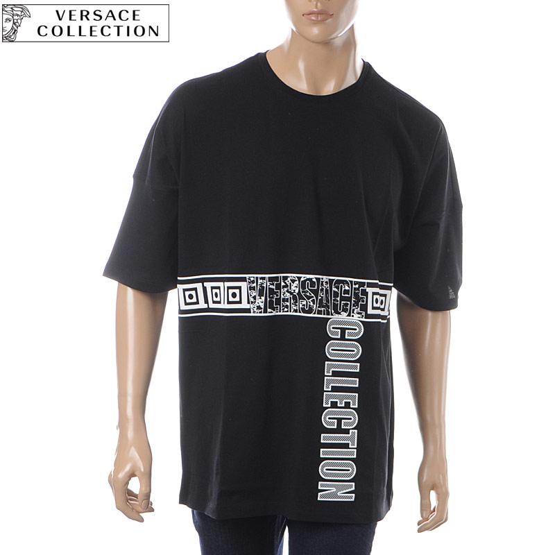 ヴェルサーチ コレクション VERSACE COLLECTION クルーネックTシャツ 半袖 メンズ V800853B VJ00576 ブラック