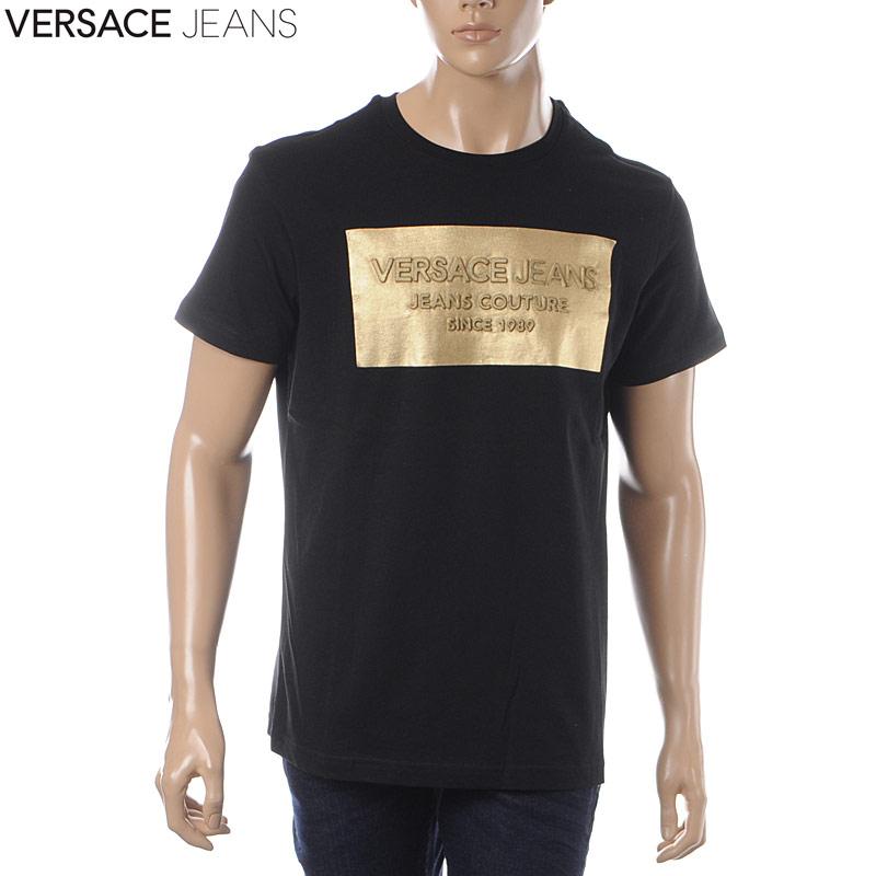 Versace jeans VERSACE JEANS crew neck T-shirt short sleeves men B3GTB74D  36590 black