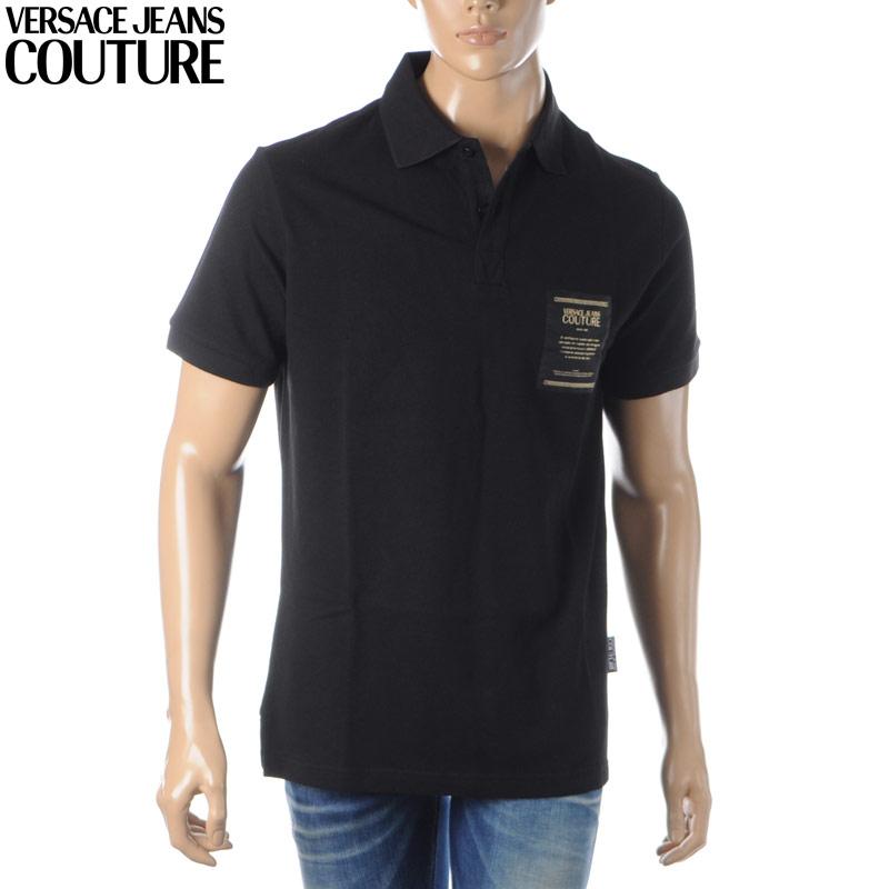 『1年保証』 ヴェルサーチ ジーンズ クチュール VERSACE JEANS COUTURE ポロシャツ 半袖 メンズ B3GVA7P1 36571 ブラック, 自転車グッズのキアーロ 9c19b569