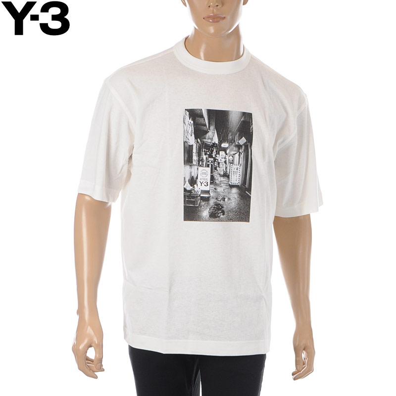 ワイスリー Y-3 クルーネックTシャツ 半袖 メンズ M ALLEWAY GRAPHIC SS TEE FT1373 ホワイト 2020春夏新作