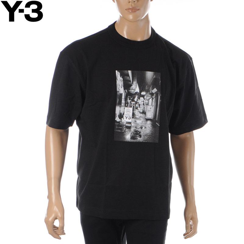 ワイスリー Y-3 クルーネックTシャツ 半袖 メンズ M ALLEWAY GRAPHIC SS TEE FP8698 ブラック 2020春夏新作