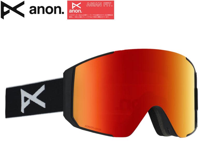 anon アノン BURTON バートン スノー ゴーグル スノーボード スノボー 日本正規品 SYNC M-FUSION 21508100054 BLACK RED NOIR ASIAN FIT アジアンフィット マグネットアシストレンズ MFI ZEISS SONARレンズ 正規品 メガネ 眼鏡