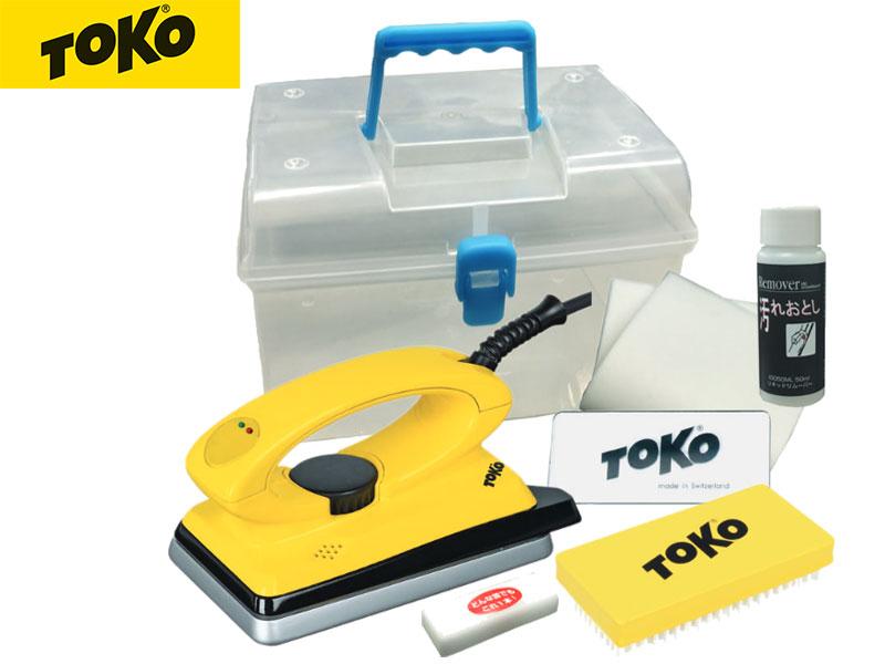 トコ【TOKO】T8 ノーマルアイロン ナイロンブラシ スクレイパー アイロンペーパー ホットワックス クリーナー スノーボード チューンナップ アルペン ワックスセット キット セット
