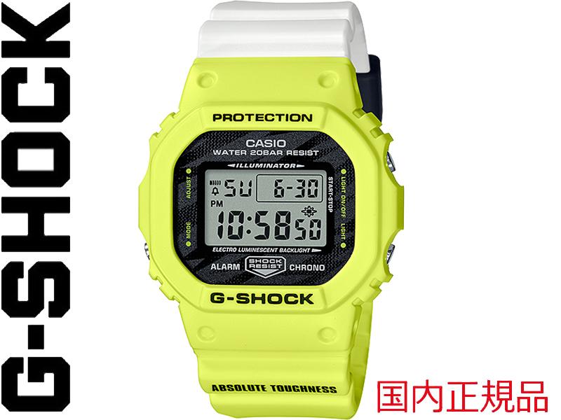 デザインモチーフはライトニングボルト ABSOLUTE TOUGHNESS 究極のタフネスをプリント 15時までのご注文で当日発送可能 G-SHOCK G SHOCK GSHOCK ジーショック CASIO カシオ DW-5600TGA-9JF 激安通販ショッピング 日本正規品 時間指定不可 DW-5600 メンズ レディース 腕時計 時計 アブソリュート Gショック 誕生日 タフネス プレゼント クリスマス 女 白 黄 ギフト 蛍光 3229 お祝い 男