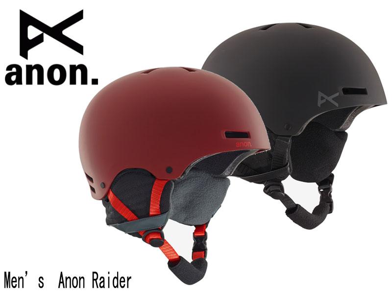 アノン【anon】ヘルメット メンズ MENS 保護具 スノーボード BURTON バートン ライダー RAIDER BLACK RED 13276100001 13276104600 2018-2019 18-19