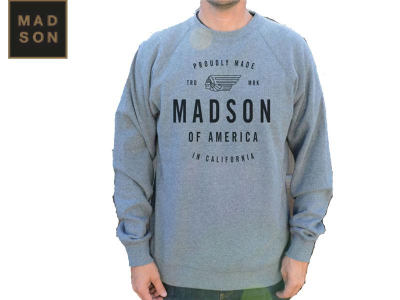 MADSON OF AMERICA マドソンオブアメリカ SPILIT WALKER CREW FLEECE アウター トレーナー スピリットウォーカークルー フリース プルオーバー スケートボード スケボー サーフィン アパレル CALIFORNIA カリフォルニア アメリカ