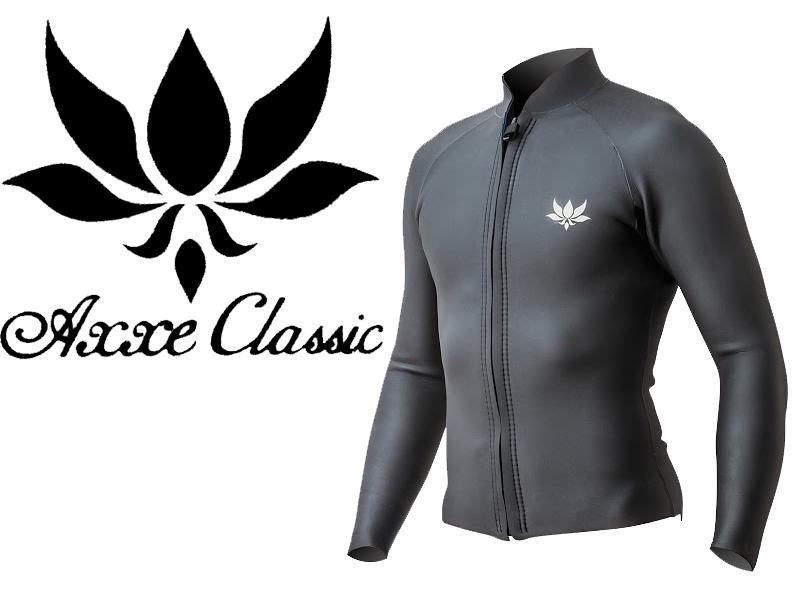 【AXXE CLASSIC】 アックスクラシック LONG SLEEVE ロング スリーブ ジャケット 2mm FRONT ZIP フロントジップ ラバー タッパーメンズ レディース ウェットスーツ サーフフィン SURF