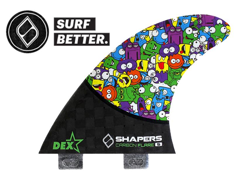 SHAPERS FIN シェイパーズ フィン DEX CARBON FLARE S サイズ カーボン トライフィン 3 TRI トライ ショート ボード サーフ