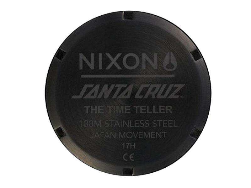 NIXON SANTA CRUZ TIME TELLER 時計 ニクソン サンタクルズ サンタクルーズ コラボ  腕時計 スケートボード スケボー タイムテラー BLACK 黒 くろ SANTA CRUZ A0452895