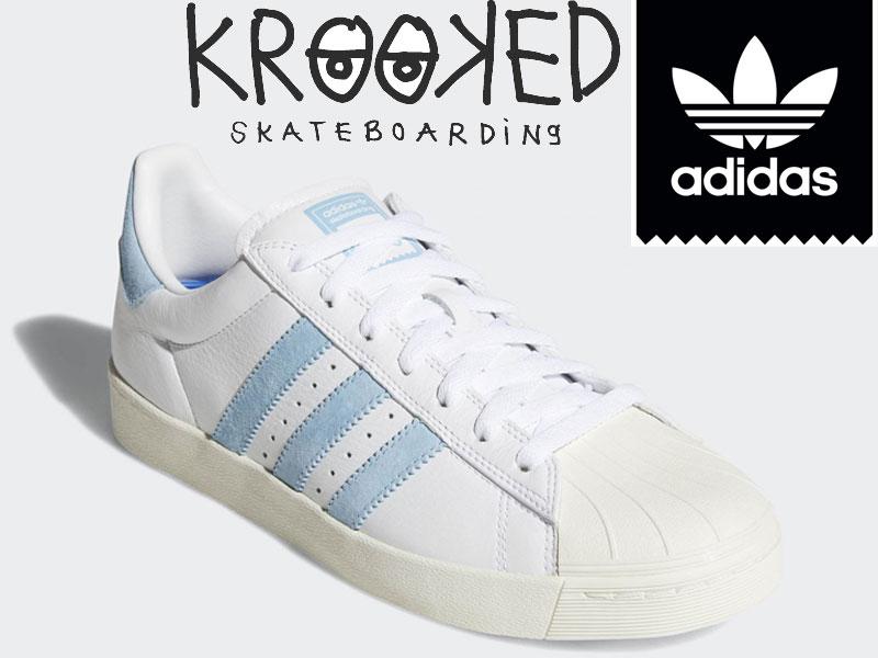 adidas SKATEBOARDING アディダス スケートボーディングSUPERSTARKROOKED スーパースター クルキッド AC8419 コラボ 靴 スニーカー スケシュー スケートボード スケボー 23cm 23.5cm 24cm 25cm 26cm 26.5cm 27cm 28cm 日本正規品