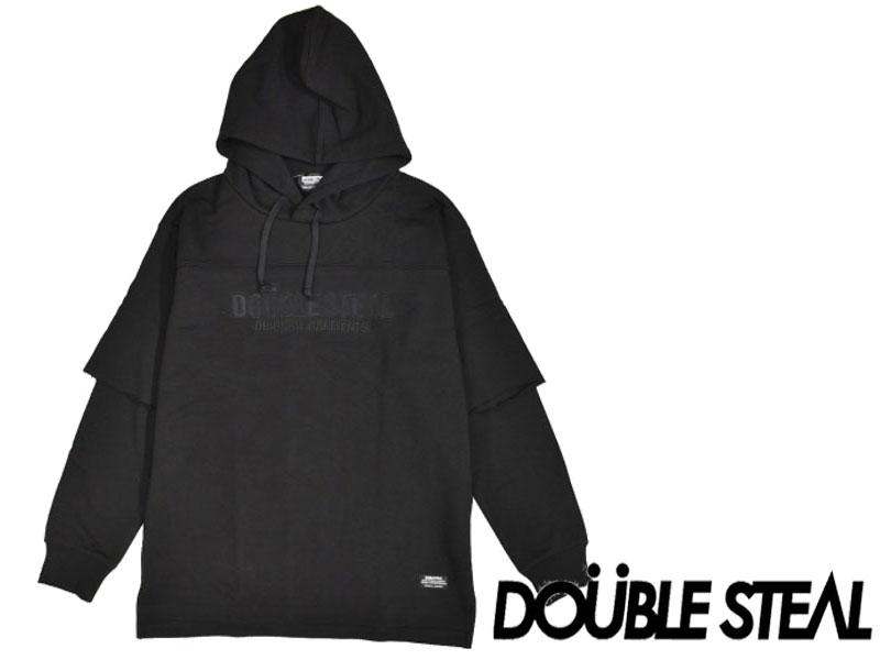 ダブルスティール ブラックDOUBLE STEAL DOUBLESTEAL BLACK プルオーバー パーカー トップス アパレル984-69203 Embroidery Parker L/S レイヤード 裏毛 オーリー OLLIE サムライ SAMURAI ストリート ファッション