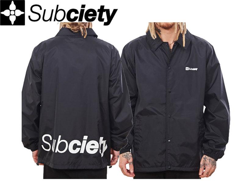 【SUBCIETY 】COACH JACKET -THE BASE- サブサエティ コーチジャケット ナイロンジャケット コーチ 裾ロゴ 定番 アウター 105-60017