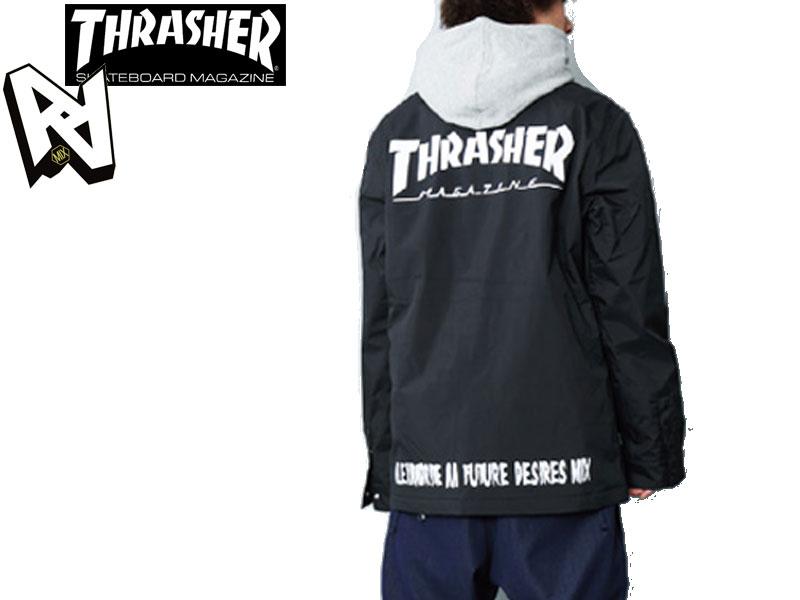 AA HARDWEAR ダブルエー ハードウェア 15/16 日本正規品 スノーウエア ジャケット 上着 COACH JACKET スノボー SNOWBOARD 72115303 THRASHER BLACK M-JK COACH スラッシャー 送料無料 メンズ 男性用