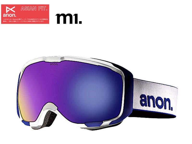 anon アノン m1 ゴーグル スノーボード スノボー WHITE BLUE SOLEX 278262104NA 12/13