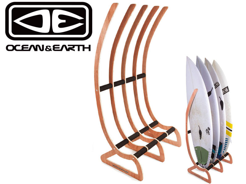 【OCEAN & EARTH】OE オーシャン アンド アース TIMBER FREE STANDING RAX 4 BOARD RACK ラック サーフ SURF スノー SNOW ボード ウッド オシャレスタンド スタンド STAND FUN SHORT ファン ショート 9321977706681