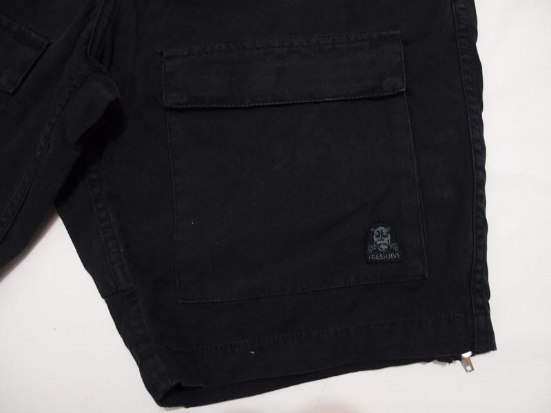 freshjive フレッシュジャイブ ハーフパンツ ショーツ ブラック BLACK ボトムス REPS SHORT 3133dBrxoeC