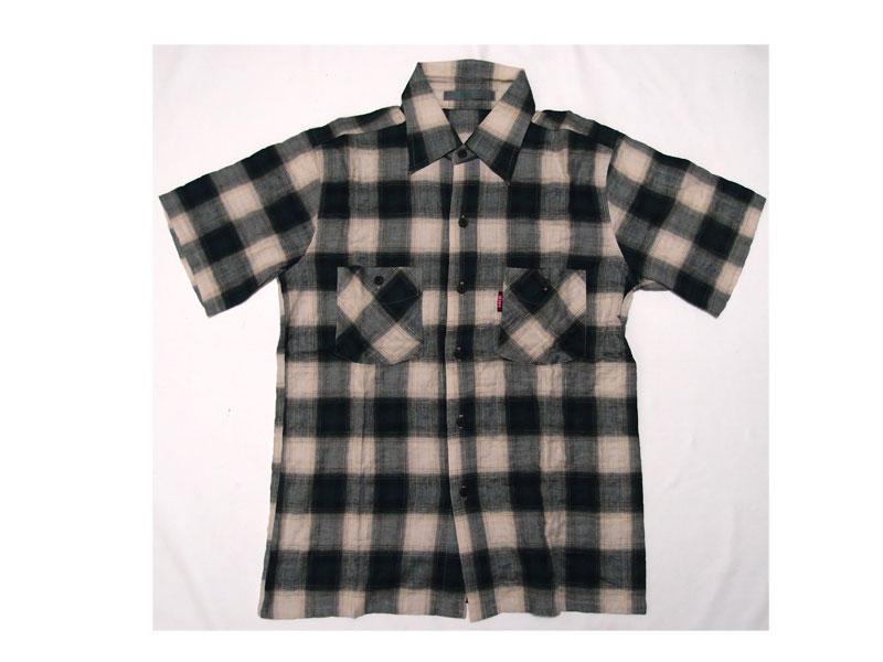 【HOMLESS/ホームレス】半袖シャツ シャツ 半袖 チェック HS S/S CHECK SHIRTS ファッション トップス ストリート メール便