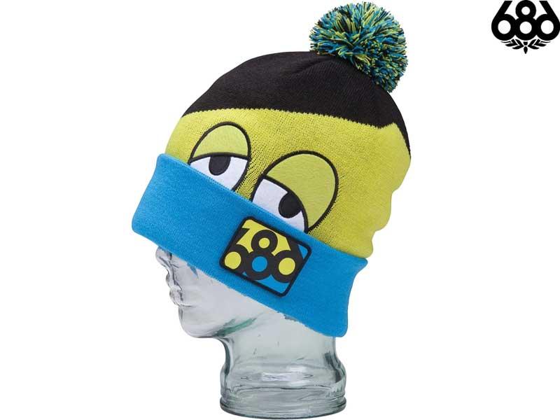 686 Six Eight Knit Hat Beanie Pom HAT SNAGGLE HIDDEN BEANIE L2WB02 Japan Eagle Caps CAP