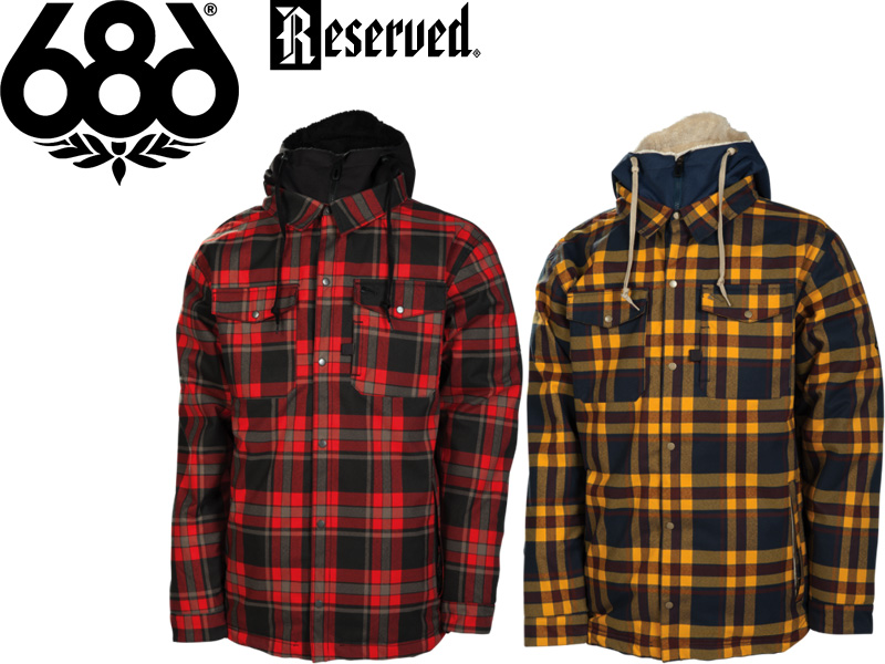 686 SIX EIGHT Reserued Snow Wear Jackets 2013 2014 Japanese Regular Article L3W120 AXXE FLANNEL INSULATED JACKET SNOWBOARD
