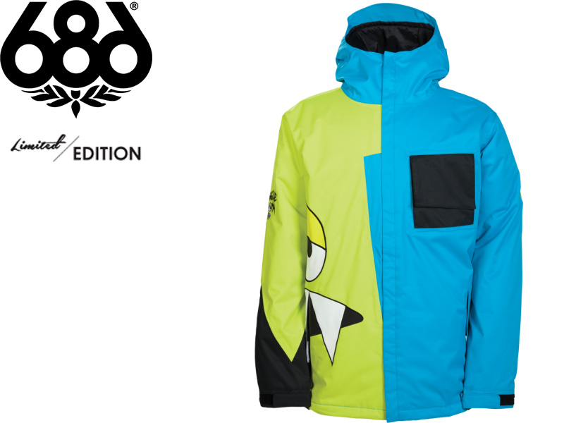 686 SIX EIGHT LIMITED EDITION AirWalk Jacket 2013 2014 Japan AE L3W130 SNAGGLEFACE INSULATED JACKET Snowboard SNOWBOARD