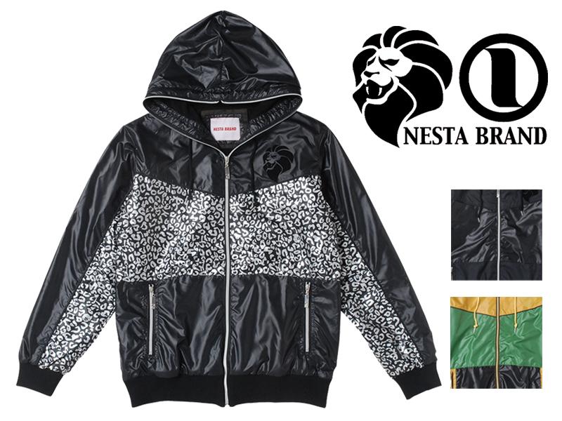 NESTA BRAND ネスタブランド ナイロンジャケット メンズ マウンテンパーカー ナイロンパーカー レゲエ ラスタ ストリート系