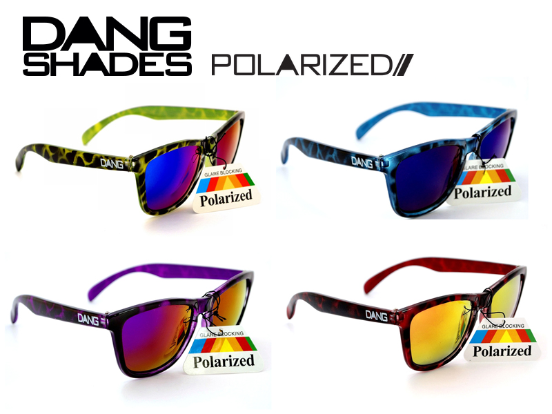 7d20d5edcd4 DANG SHADES Dan Shay D sunglasses glasses mirror lens BLUE RED GREEN PURPLE  TORTOISE MIRROR POLARIZED