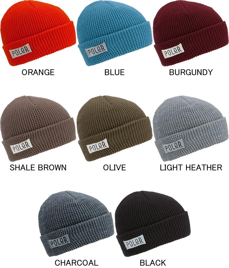 2fe47327a81 POLER polar knit hat beanie cap hat CAP HAT hat Worker Man Beanie OUTDOOR  camping camping gear
