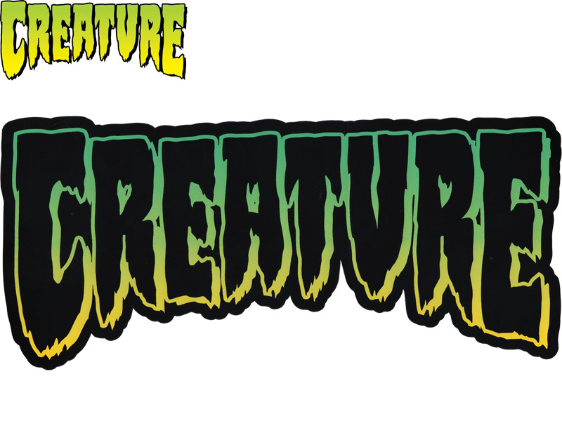 Creature creature stickers deck seal decal skate skateboard skate width 38 cm x height 17 2 cm