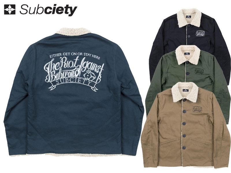 【SUBCIETY サブサエティ】 ワークジャケット ボアジャケット ジャケット 上着 秋冬 アウター BOA JKT-BABYLON- SBF7283 オーリー サムライ SAMURAI OLLIE ストリート スト系 送料無料
