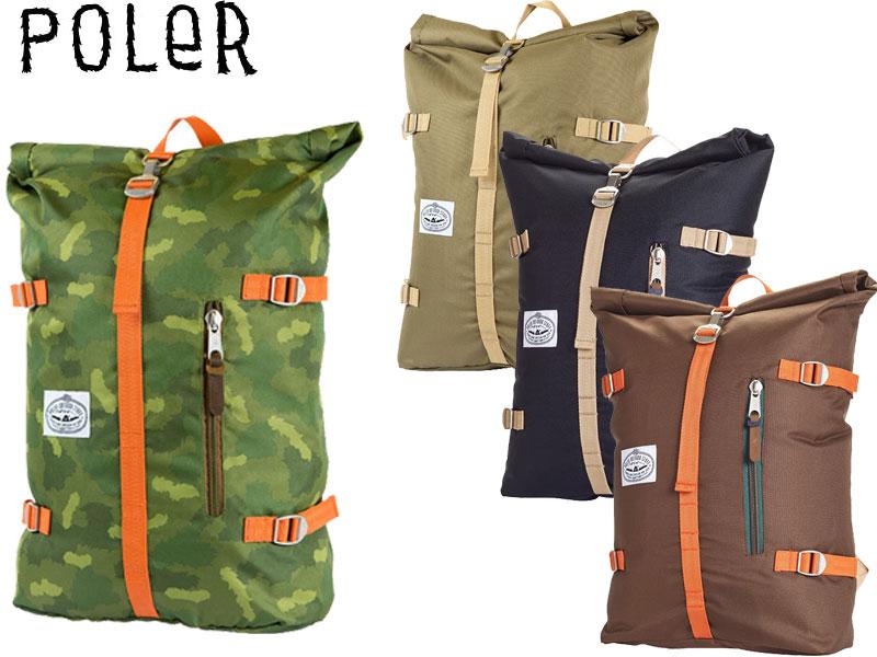 POLER ポーラー バックパック The Rolltop Pack バッグ リュック 鞄 アウトドア キャンプ サーフ SKATE スケート ピスト 自転車 512014