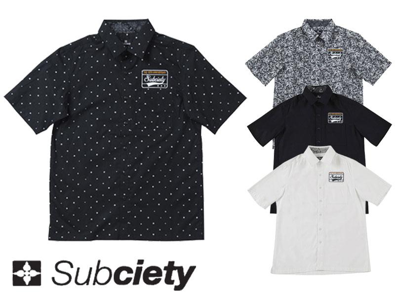 【Subciety サブサエティー】 シャツ 半袖 カットソー アパレル ボタンシャツ EMBLEM SHIRT S/S 10035 オーリー OLLIE サムライ