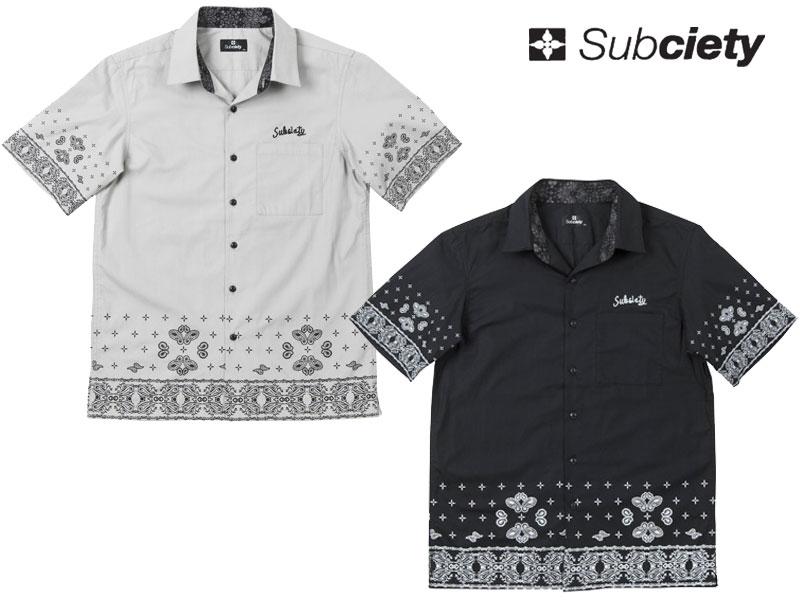 Subsiety サブサエティ ボタンシャツ 2015 半袖 シャツ ペイズリー 10048 PAISLEY SHIRT S/S-Parantica sita- OLLIE SAMURAI オーリー サムライ