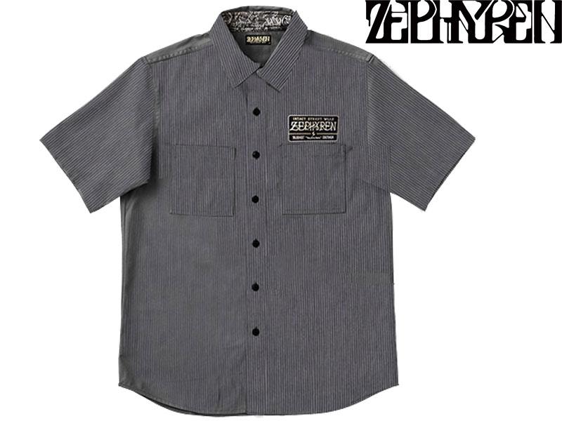 【ZEPHYREN ゼファレン】 EMBLEM SHIRT S/S 半袖 シャツ ボタンシャツ トップス ストリート ファッション ZEF1011