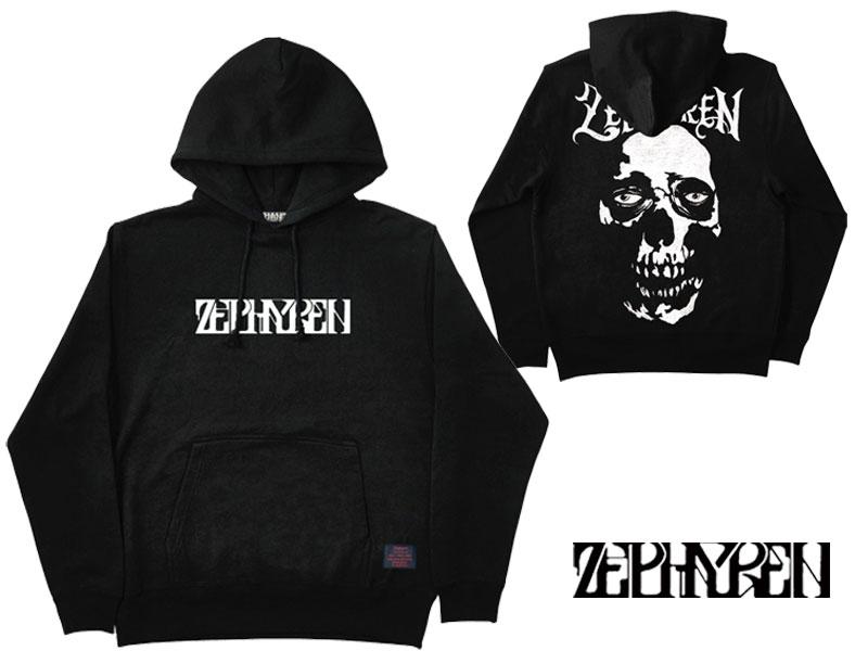 【ZEPHYREN ゼファレン】 PARKA-Skull head- パーカー トップス プルオーバー フードパーカー ストリート ファッション