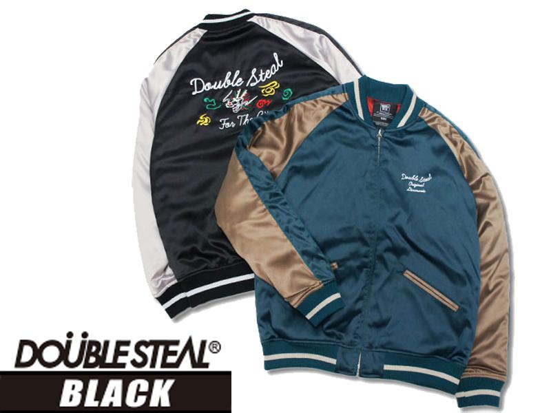 DOUBLESTEALBLACK ダブルスティールブラック サテンスカジャン スカジャンライトジャケット ジャケット ジャケット アウター 送料無料 765-49209