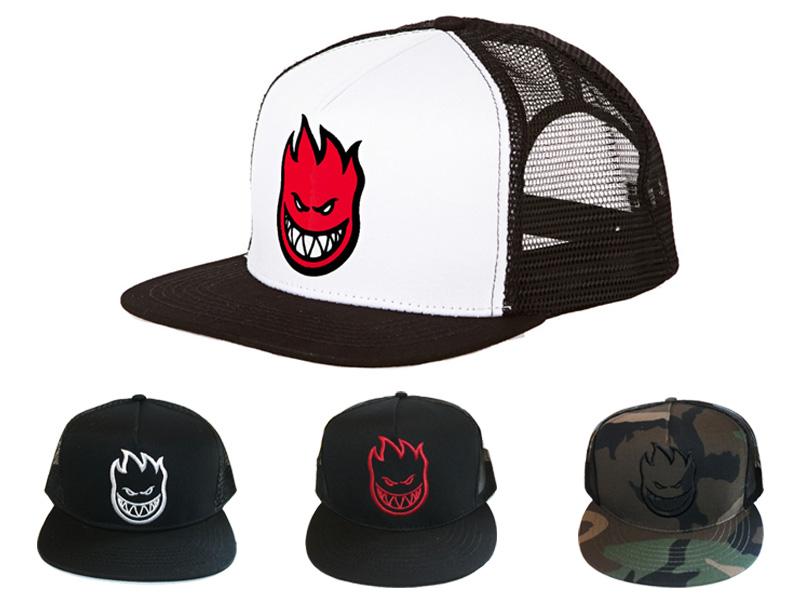 SPIT FIRE Spitfire SPITFIRE Cap Snapback BIGHEAD TRUCKER hats apparel skate  board skateboard b868ebde366