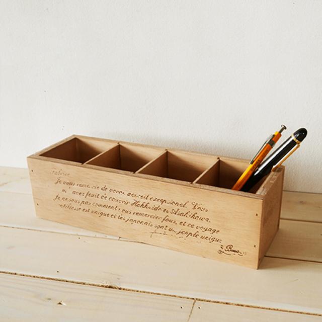 日本製 リビング 小物 賜物 インテリア 雑貨 木製 北欧 インダストリアル 木箱 ペンスタンド アンティーク 収納ボックス 海外 西海岸 BREA 小物入れ リモコンケース