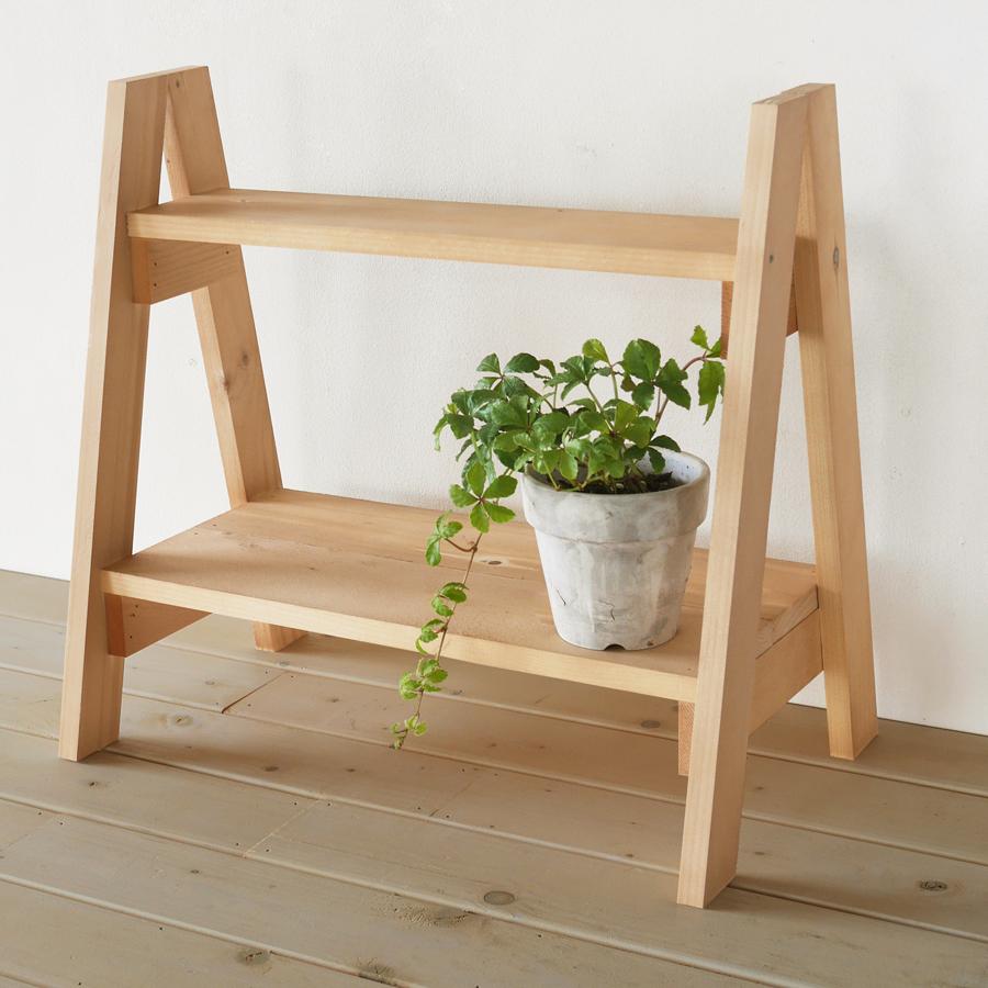 カントリー雑貨 飾り棚  フラワースタンド 木製 花台 おしゃれ プランタースタンド 観葉植物 ディスプレイ台 BREAブレア