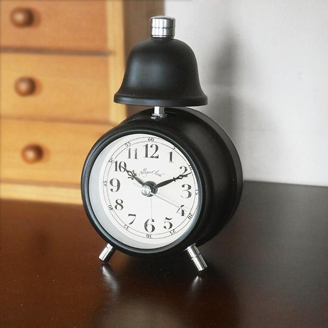 かわいい おしゃれ レトロ 毎日激安特売で 営業中です 新色追加 アラーム クロック 目覚まし時計 ブラック 卓上 目覚まし