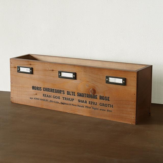 日本製 男前インテリア 玄関 公式 インダストリアル 木箱 収納ボックス スリッパラック スリッパ立て アンティーク ネーム入れ金具付き 誕生日プレゼント ブルックリン BREAブレア