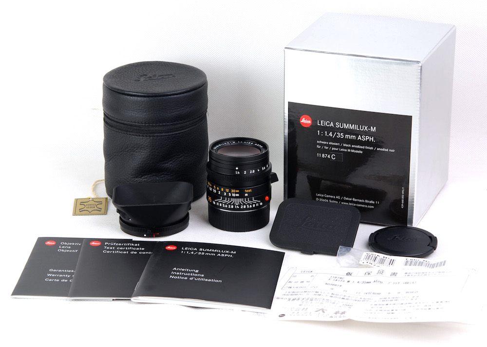 【新同品】Leica/ライカ Summilux-M 35mm F1.4 ASPH 6bit 11874 レンズ 元箱付き#jp22206
