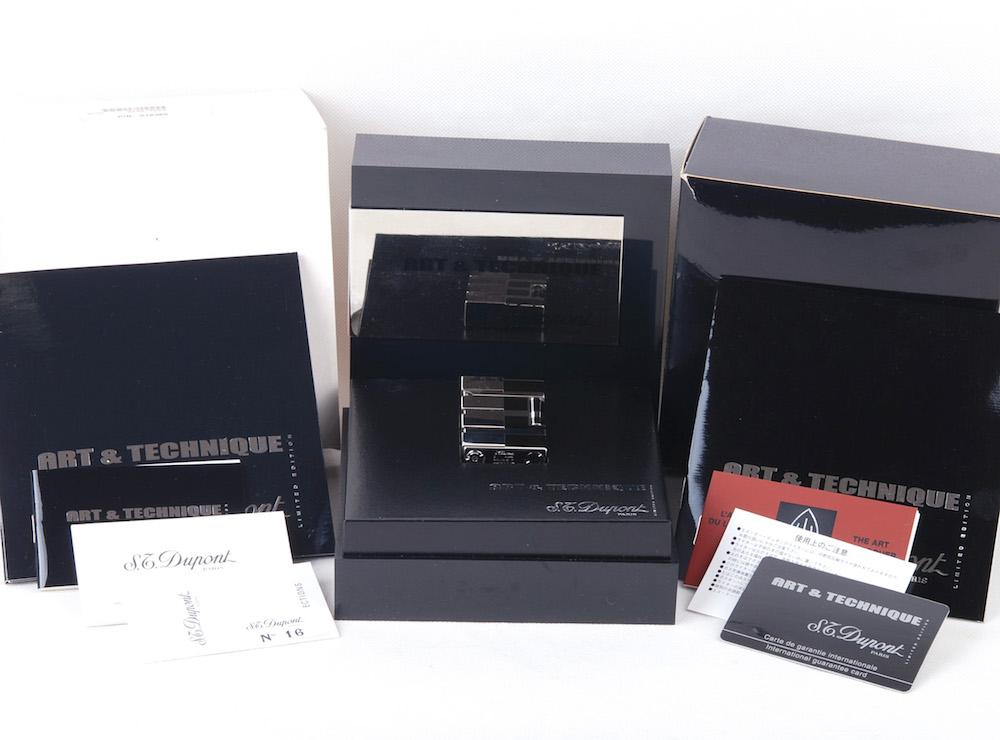 【2003年Art&Technique限定版】S.T.Dupont/デュポン ブラックLaquer Line2ライター#jp20845
