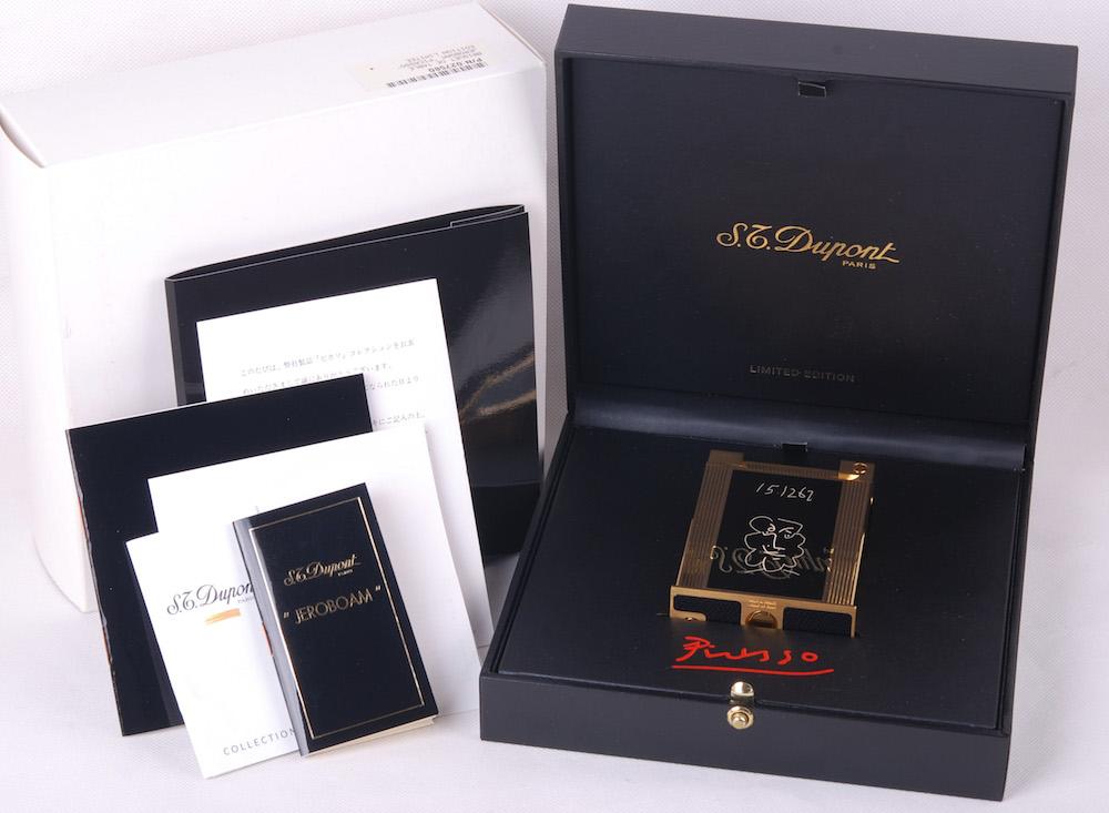 【ピカソシリーズ限定版】S.T.Dupont/デュポン 羊飼い ゴールドコーディング卓上ライター#jp20809